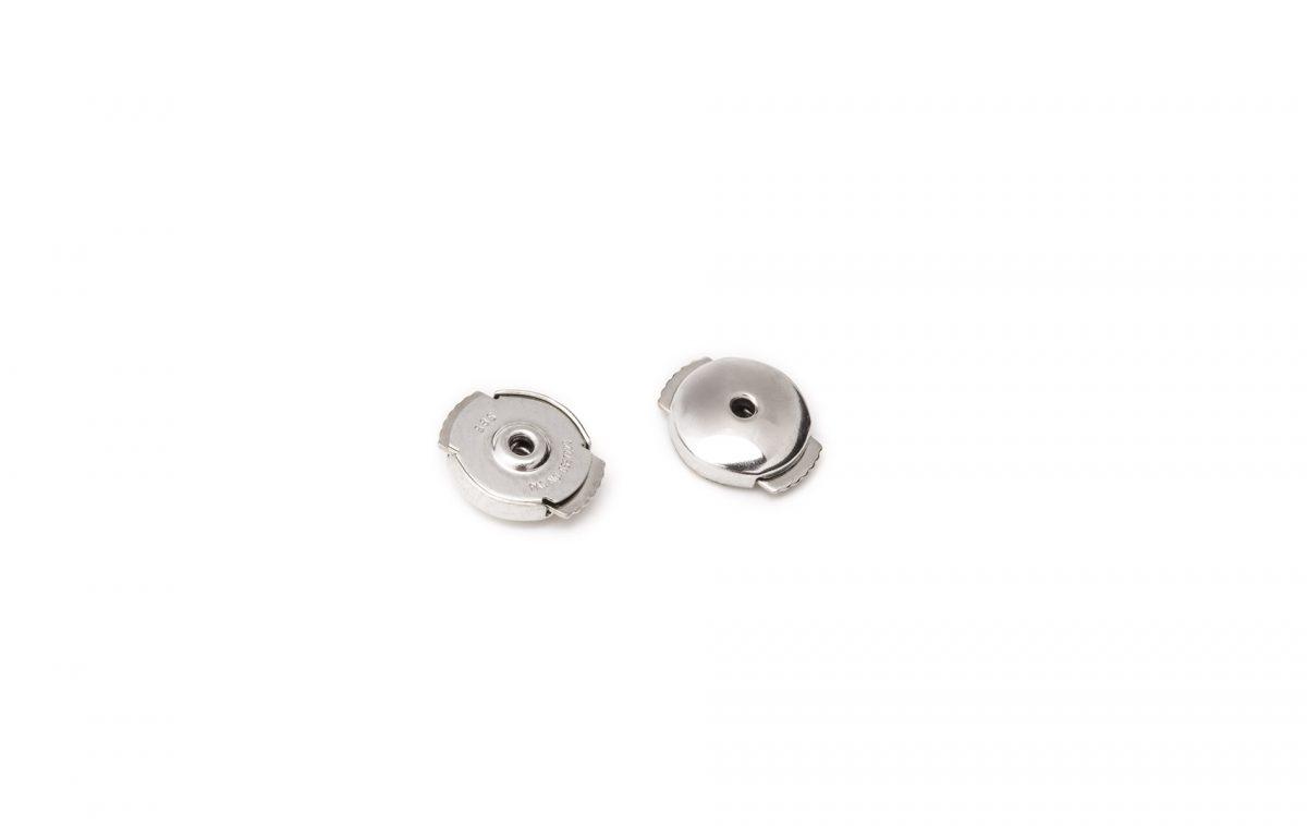 ZORYA Crystalline Rock Stud Earrings Silver