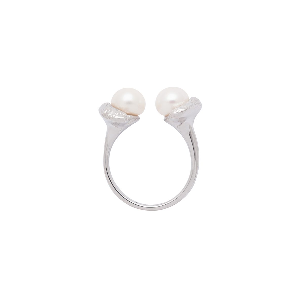 Antipearle Mini Double Pearle Ring Silver